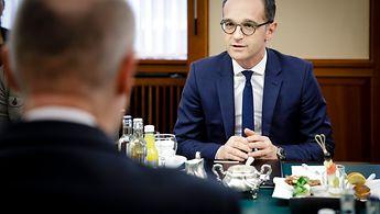 Heiko Maas im Gespräch mit Stef Blok