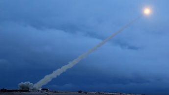 Raketenstart bei einer russischen Militärübung.