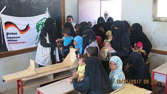 Deutschland unterstützt die Arbeit von Organisationen wie ADRA in Jemen, hier bei einem Projekt zur Kindergesundheit in der Kamaran Klinik