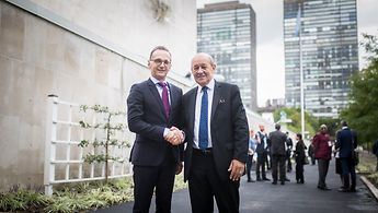 Foreign Minister Heiko Maas and his French counterpart, Jean-Yves Le Drian, in New York, 26 September 2018