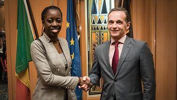 Außenminister Maas mit der malischen Außenministerin