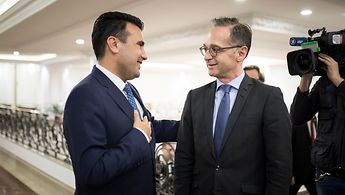 Foreign Minister Maas and Prime Minister Zaev from North Macedonia