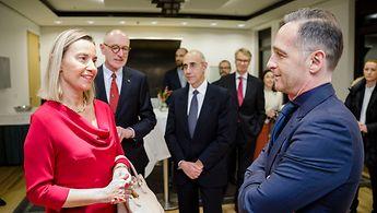 Federica Mogherini, scheidende EU-Außenbeauftragte, und Außenminister HeikoMaas